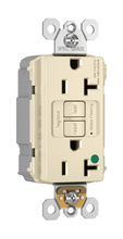 PlugTail® Hospital-Grade Tamper-Resistant 20A Self-Test GFCI Receptacle, Light Almond