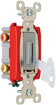 Extra Heavy-Duty Spec. Grade 347VAC Locking Toggle Switch Back & Side Wire, Gray