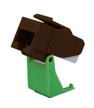 Snap and Go Cat 5e Keystone Connector, Brown
