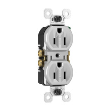 15A/125V Weather-Resistant Duplex Receptacle, Gray, 8-Pack