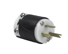 15A, 277V Extra-Hard Use Spec-Grade Plug, Black & White
