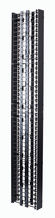 Standard Vertical Cable Management Cage with Cover - 6.00 x 13.17 in x 7 ft - double-sided
