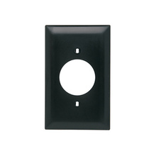 Power Outlet Receptacle Openings, One Gang, Black