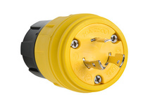 26W48 Watertight NEMA 4X/6P Locking Plug,Yellow