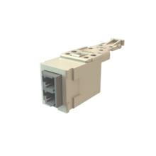 Infinium HD Fiber Module, Keyed Front Keyed Rear LC Duplex (2 Fibers), HDJ Insert, Gray Adapter Fog White for Workstation