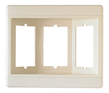 Three-Gang Recessed TV Box (Frame Only), Light Almond