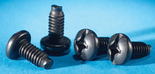 Panel Mounting Screws - 12-24 X 5/8 - package of 50 - black