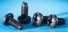 Panel Mounting Screws - 12-24 X 5/8 - package of 50 - black