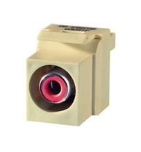Keystone RCA to RCA (Red Insulator), Light Almond