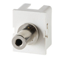 TracJack Module, 3.5 mm stereo jack, F/F, 180-degree exit, Fog White