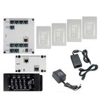 Digital Audio Four-Room, Single-Source Kit, White