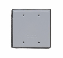 Two Gang Blank Cover, Gray