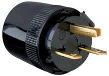 Medium-Duty Dead Front Plug, Black