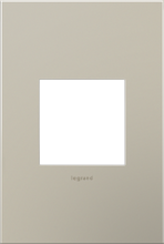 adorne® Satin Nickel One-Gang Screwless Wall Plate