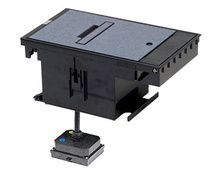 Outdoor Ground Box 2-Gang, 20A Duplex Receptacles, Gray