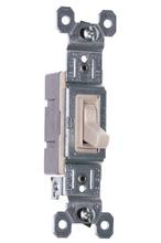 NAFTA-Compliant TradeMaster Grounding Toggle Switch, Light Almond
