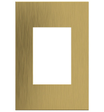 adorne® Brushed Satin Brass One-Gang-Plus Screwless Wall Plate