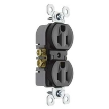 15A/125V TradeMaster® Duplex Receptacle, Brown