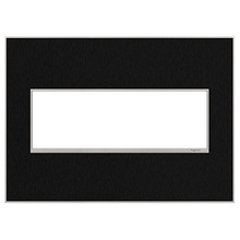 adorne® Black Stainless Three-Gang Screwless Wall Plate