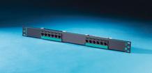 Clarity 5E 12-port panel - Cat5e - six-port modules - 19 in x 1.75 in