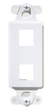 2-Port Decorator Outlet Strap, White, 10-Pack