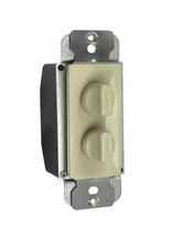 Rotary Dual Fan Speed/Dimmer Control, Ivory