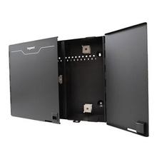 Q-Series 4 Panel Standard Density Wall Mount Fiber Enclosure Black