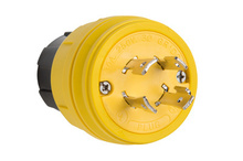 28W75 Watertight NEMA 4X/6P Locking Plug,Yellow