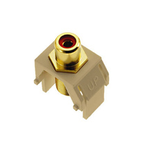 Red RCA to F-Connector, Ivory