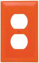 Duplex Receptacle Openings, One Gang, Orange