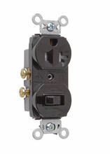 20A, 120/125V Combination Single-Pole Switch & Tamper-Resistant Single Receptacle, Brown