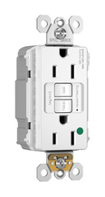 PlugTail® Hospital-Grade Tamper-Resistant 15A Self-Test GFCI Receptacle, White