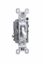 15A, 120V TradeMaster® Single-Pole/Illuminated Toggle Switch, Light Almond