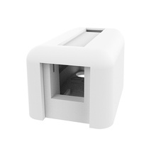 Keystone Plastic Surface Mount Box - Single Port - Cloud White