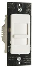 Wide Slide TradeMaster Single-Pole, Non-Preset CFL/LED Slide Dimmer, 3 Interchangeable Face Plates