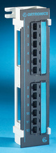 Clarity 6 12-port Category 6 mini patch panel on 89 D bracket - 10 in x 2.3 in