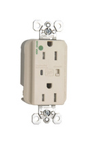 Tamper-Resistant Hospital Grade Extra Heavy-Duty Surge Protective Duplex Receptacle, Light Almond