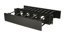Horizontal Cable Manager, Double Sided, 2 rack unit, Black