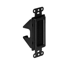 CABLE ACCESS WALL PLATE BLACK