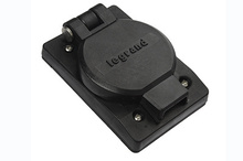 30A, 3Ф480V Turnlok® Watertight Single Receptacle, Black