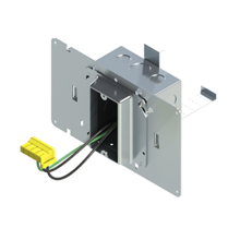 4'' Square Box with 1-Gang 5/8'' Plaster Ring and 1 Grounded PlugTail Switch Connector with protective mud cover - Box of 10 [EF000058]