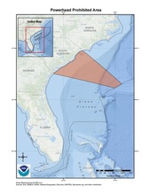 This is a map of the powerhead prohibited area for the snapper-grouper fishery in the South Atlantic Region.