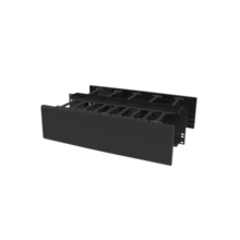 Horizontal Cable Manager, Double Sided, 3 rack unit, Black