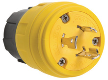 26W47 Watertight NEMA 4X/6P Locking Plug,Yellow