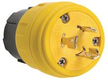 26W47 Watertight NEMA 4X/6P Locking Plug,Yellow