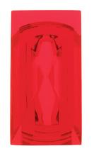 Plastic Jewels, Rectangular, Red