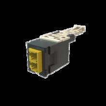 Infinium HD Fiber Module, Keyed Front Non-Keyed Rear LC Duplex (2 Fibers), HDJ Insert, Green Adapter, Black for Panel