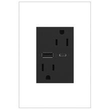 adorne 15A Tamper-Resistant Ultra-Fast USB Type A/C Outlet - Graphite