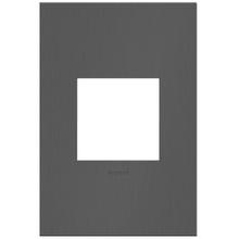 adorne® Brushed Black Nickel One-Gang Screwless Wall Plate