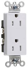 TR26252W Tamper-Resistant Decorator Spec Grade Receptacle, Back & Side Wire, 15A, 125V, White